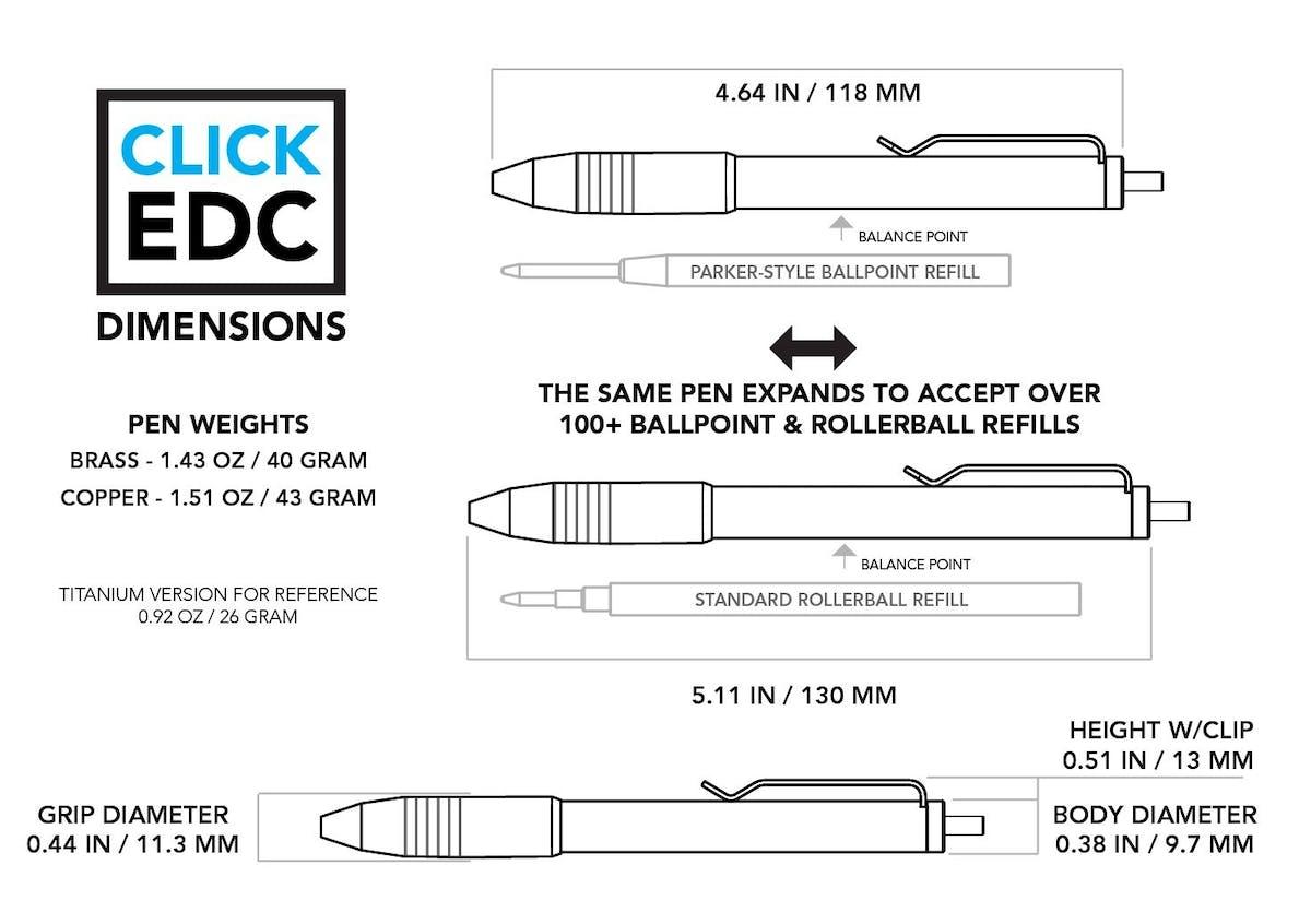 Copper Click EDC Pen
