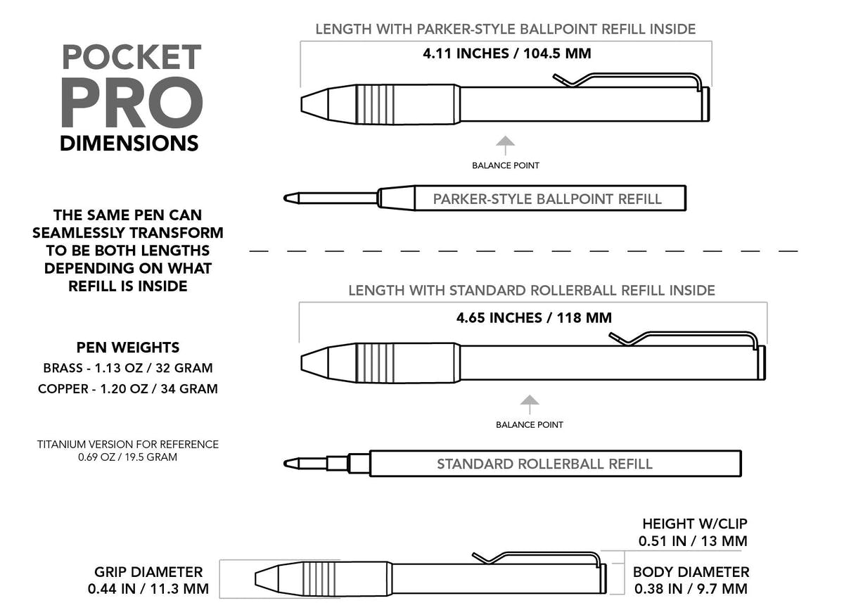 Brass Pocket Pro Pen