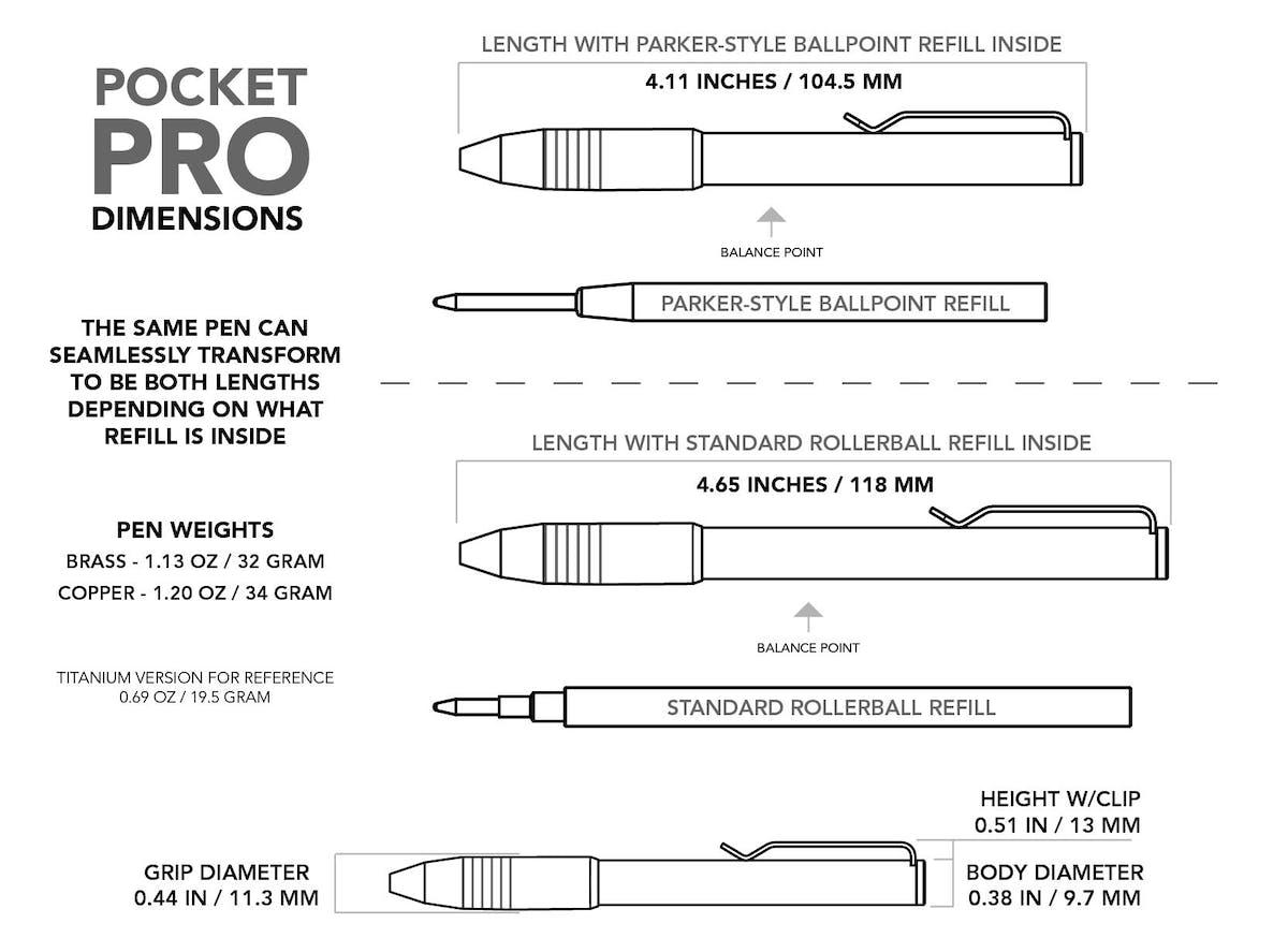 Copper Pocket Pro Pen